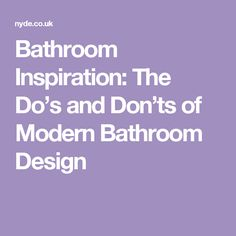 Bathroom Design Do's And Don'ts 25 modern luxury bathroom designs | bathroom designs, luxury and