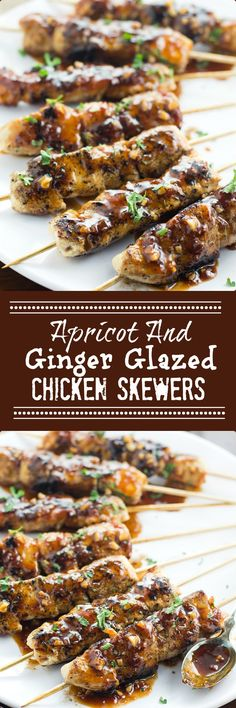 I made these delicious Apricot and Ginger Glazed Chicken Skewers for dinner the other night and now my hubby is asking for them again! Husband approved! And Great For Grilling!