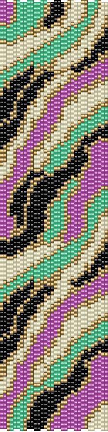Pattern Peyote Cuff Bracelet Abstract 3 by pattimacs on Etsy, $4.95