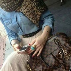 Hijab and denim  love this look