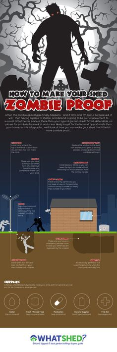 How to Make Your Shed Zombie Proof #infographic