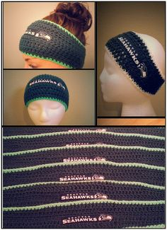 Seattle Seahawks Headband Crochet