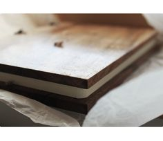 Handcrafted walnut timber diary