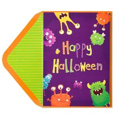 A fun collection of monsters is ready to deliver your Halloween wishes and a…