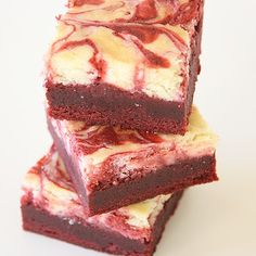 Red Velvet Cheesecake Brownie   Serve on Blue or Flag Platter for Independence Day