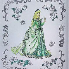 緑!!! #大人の塗り絵 #旅するディズニー塗り絵 #コロリアージュ #ディズニー #オーロラ姫 #眠れる森の美女 #color #colorbook #coloriage #coloring #colorful