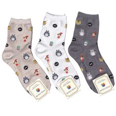 My Neighbor Totoro socks 3 kinds Option for woman ship:1.90 in | eBay