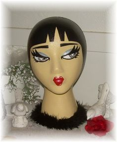 Landfill Ladies  Hand Painted Mannequin Display Head / by LBDK, $28.00
