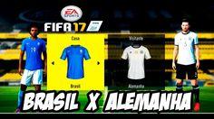 Fifa 17 Amistoso Brasil X Alemanha│MODO LENDÁRIO ( HD 1080P)