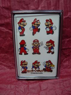 Rare Vintage 1980s Nintendo Super Mario Bros. Deck of Playing Cards Sealed New…