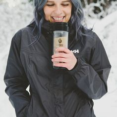 """photo by  libretea  """"Stay warm from the inside out during your #winter outdoor fun!  by @lw_wholehearted #staywarm #stayhydrated #drinktea #tealover #teatime #hikingbuddy…"""""""