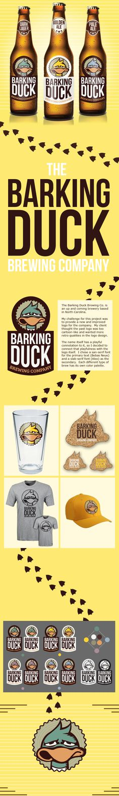 Barking Duck Brewing Co. by Joshua Hrdlick, via Behance