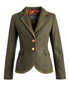 1fe7817e Joules Ladies' Charing Tweed Jacket – Balmoral This fitted tweed jacket has  a sporting heritage feel and is full of charm. The Charing jacket features  an ...