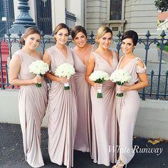 Real Runway | Beauties in our Ingrid, Sienna, Kresta, Bridgette & Dionne Dresses #whiterunway #realrunway #wedding #bridesmaids