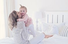 Baby Mom Photography White