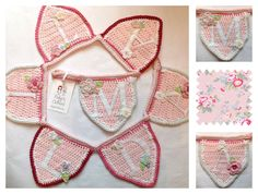 Pink spring flowers bunting for Matilda inspired by some lovely Cath Kidston fabric