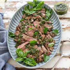 Char-grilled Steak with Salsa Verde Vegetable Dips, Cast Iron Grill Pan, Steak Side Dishes, Char Grill, Salsa Verde, Outdoor Cooking, A Food, Food Processor Recipes, Lunch