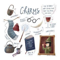 Harry Potter Charms Class Fan Art by Karen Leopold {@karen_leopold on instagram}