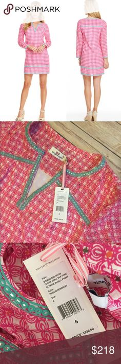 🍁1HR SALE Cowrie Shell Silk Tunic Vineyard Vines Size 6 Cowrie Shell Silk Tunic Vineyard Vines. SOLD OUT in this size!!! Color is rhododendron (pink). Beautiful tunic!!! Product info pictured. ***NO TRADES, PRICE FIRM, NO discussions about price in comments (it's rude & you will be blocked)**** Vineyard Vines Dresses