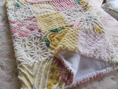 Love this vintage chenille quilt