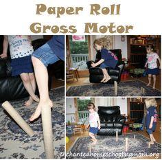 Paper Roll Gross Motor – Enchanted Homeschooling Mom