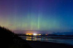 Bettystown beach Northern lights photo by George Karellas