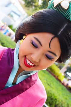 "take-me-to-disney-world: "" The Flower the Blooms "" Disney Cast, Disney Magic, Princess Photo Shoots, Disney Princesses And Princes, Pocket Princesses, Walt Disney World, Disney Parks, Disney Makeup, Character Makeup"