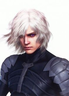 white hair Now this more accurately portrays a realistic look for Setaki, more of how I picture him (except haira more silver and bangs sweep left instead of right) Metal Gear Solid, Character Inspiration, Character Art, Character Design, Dnd Characters, Fantasy Characters, Frugal Male Fashion, Men Fashion, Raiden Metal Gear