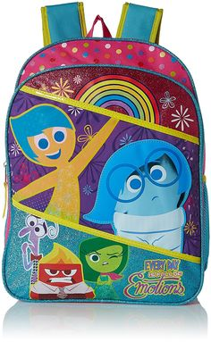 Disney Girls' Inside Out Backpack ** To view further for this item, visit the image link. (This is an Amazon Affiliate link and I receive a commission for the sales)