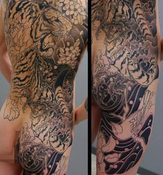 Today's work. #tiger #background #japanesetattoo #irezumi #yktattoo by kenji_shigehara_yktattoo