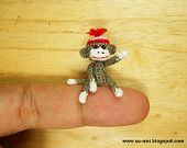 Teeny tiny crochet animals.