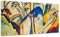 Quadro moderno Astratto Kandinsky Composizione IV Arte Arredo Stampa su tela
