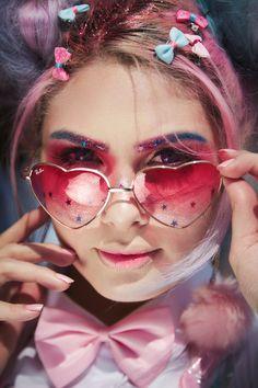 #candycolors #harajuku #decora #fairykei #fairykeifashion #jfashion #fashion #kawaii #doll #sunglasses #pink Kawaii, Candy Colors, Harajuku, Editorial, Pink, Sunglasses, Tattoos, Fashion, Moda
