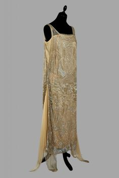 Evening dress, 1920-1925
