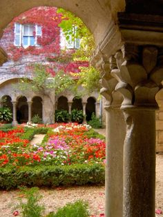 Cloisters at St-Paul-de-Mausole Monastery where Van Gogh stayed and created 150 works of art before dying...Provence