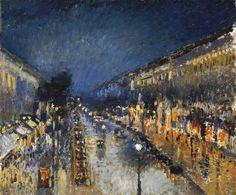 Camille Pissarro, Boulevard Montmartre at Night