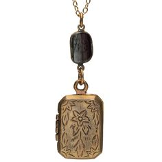 Etched Rectangular Locket - The Met Store