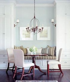 PERFECT with a window above seating! diy kitchen banquette seating with storage Banquette Seating In Kitchen, Dining Nook, Dining Room Design, Dining Table, Table Bench, Dining Chairs, Wood Table, Dining Sets, Room Chairs