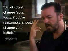 Beliefs versus facts