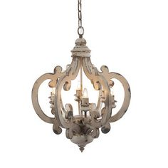 A dramatic, stunning way to light up entryway, porch, hallways, dining room or eat-in kitchen. This beautiful Wood-Metal Chandelier will add an elegant touch to your home decor. Finished in antiqued white. Made of wood and metal. Wood And Metal Chandelier, White Chandelier, Antique Chandelier, Chandelier Pendant Lights, Chandeliers, Chandelier Ideas, Hanging Chandelier, French Country Chandelier, Farmhouse Chandelier