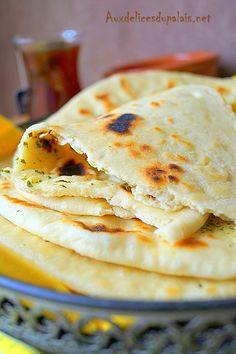 Naan ou nân  pain indien à la poêle (recette facile)