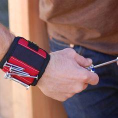 磁気リストバンドで強い磁石用保持ネジ、釘、ドリルビットグレートあなたのツールバッグ、パーフェクト用自動車修理