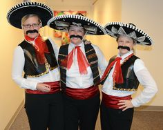 The Upper School Three Musketeers: Mrs. Welch, Mrs. Giljames, and Mrs. Stabolitis on Halloween