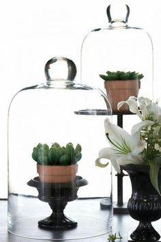 Chateau Cloches - Set of 2  This Table Accent Has a Convenient, Multi-Purpose Design  Item # 89907