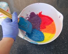 all five colors in the pot swirl cp soap instructions & recipe