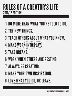 A creator's life. (Image from Hughes Design Co.)