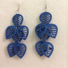 Blue leaves earrings Blue leaves earrings Jewelry Earrings