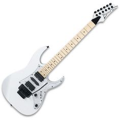 Ibanez RG350MPZ Electric Guitar, White at Gear4Music.com ❤ liked on Polyvore featuring music, guitars, instruments, accessories and fillers