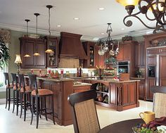 Spectacular gourmet kitchens - by GL Homes - Florida's Leading Homebuilder Beautiful Kitchens, Dream Kitchens, Kitchen Dinning Room, Dream Rooms, Luxury Real Estate, Home Buying, Building A House, House Plans, Sweet Home