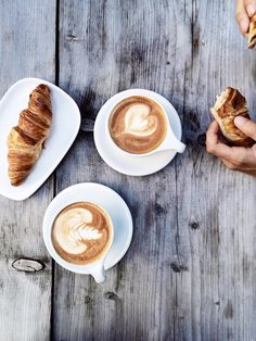 Croissants And Coffee French Recipes - - Coffee Is Life, I Love Coffee, Best Coffee, Coffee Break, My Coffee, Morning Coffee, Coffee Signs, Coffee Creamer, Funny Coffee